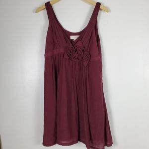 Alythea | Wine colored babydoll dress